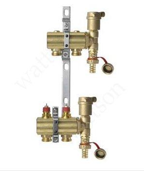 DANFOSS, Коллекторная группа FHF-2 set с клапанными вставками, 2 контура