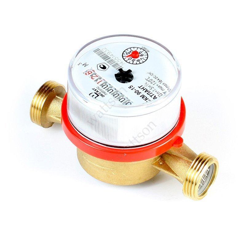 Счетчик воды универсальный DECAST METRONIC ВСКМ 90-20 L=130 мм + к-т штуцеров без обратного клапана