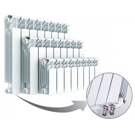 Радиатор биметаллический RIFAR B500 Ventil BVR 06 секций