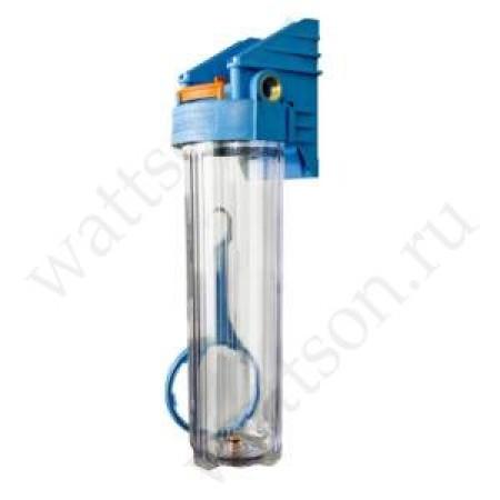 Фильтр магистральный ДЖИЛЕКС Big Blue 20'' прозрачный, подключение 1'', 180 мм, под картридж 114 мм