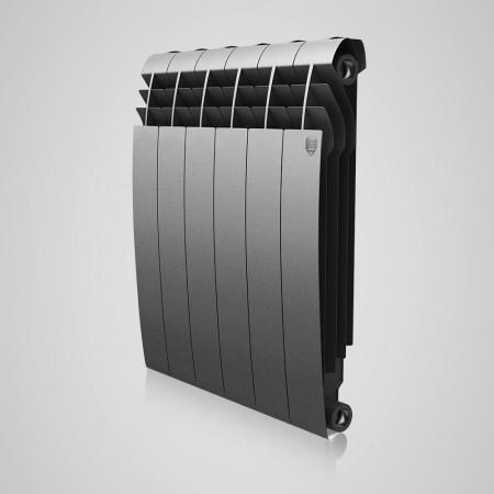 Радиатор биметаллический Royal Thermo BiLiner Silver Satin 500/87 8 секций