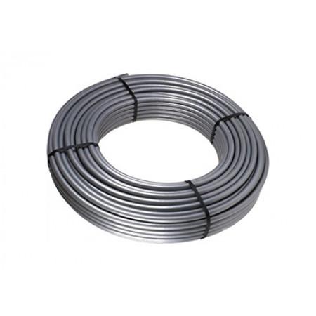 Труба из сшитого полиэтилена STOUT 16x2,6, стабильная PE-Xc/Al/PE-Xc, серая, 100 м.