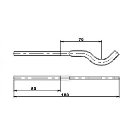 WATTSON Кронштейн штыревой круглый 180 х 7 мм с дюбелем