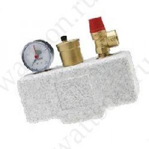 WATTS, Группа безопасности котла до 50 кВт на 3 бар KSG 30/ISO2 с теплоизоляцией