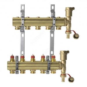 DANFOSS, Коллекторная группа FHF-5 set с клапанными вставками, 5 контуров