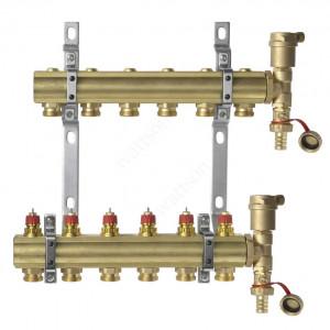 DANFOSS, Коллекторная группа FHF-6 set с клапанными вставками, 6 контуров