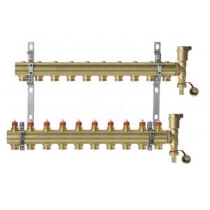 DANFOSS, Коллекторная группа FHF-10 set с клапанными вставками, 10 контуров