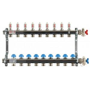 REHAU Распределительный коллектор HKV-D на 9 контуров (нерж .сталь)