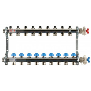 REHAU Распределительный коллектор HKV на 11 контуров (нерж .сталь)