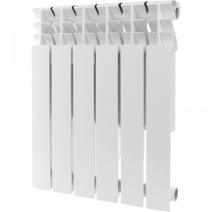 Радиатор алюминиевый ROMMER Plus 500, 6 секций