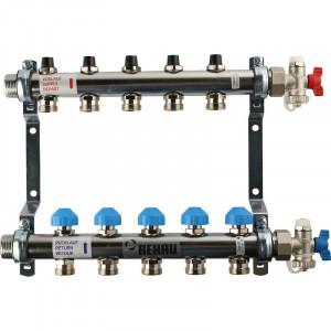 REHAU Распределительный коллектор HKV на 5 контуров (нерж .сталь)