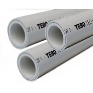 Труба полипропиленовая 20х3,4 PN25 (SDR 6) армированная алюминием в центре TEBO