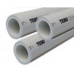 Труба полипропиленовая 40х6,7 PN25 (SDR 6) армированная алюминием в центре TEBO
