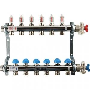 REHAU Распределительный коллектор HKV-D на 6 контуров (нерж .сталь)