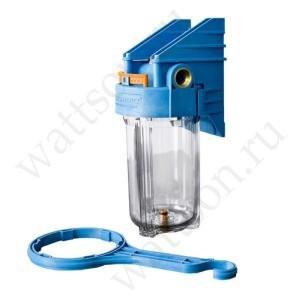 Фильтр магистральный ДЖИЛЕКС Big Blue 10'' прозрачный, подключение 1'', 180 мм, под картридж 114 мм