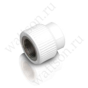 Муфта FUSITEK комбинированный с внутренней резьбой PPR белый - 25 x 3/4