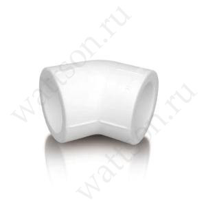 Угольник FUSITEK Угол 45° PPR белый - 63