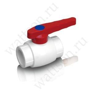 Кран шаровый FUSITEK для гор. воды PPR белый - 40
