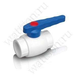 Кран шаровый FUSITEK для хол. воды PPR белый - 50