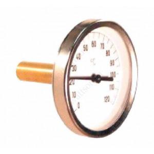 "Термометр биметаллический WATTS 80 мм с погр. гильзой 50 мм 1/2"" 120 С"