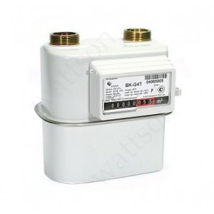Счетчик газа ELSTER  с механической коррекцией ВК G 4 Т V1.2 (110 мм) слева направо 2019 г.