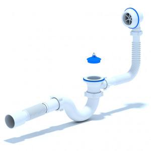 Сифон Варяг для ванны с гибкой трубой 40 х 50