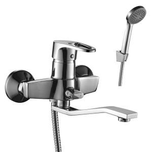 Смеситель DECOROOM DR67044 одноручный для ванны универсальный с поворотным изливом 200 мм