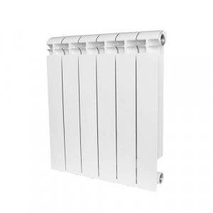 Радиатор биметаллический STOUT ALPHA 500 6 секций (белый RAL 9016)