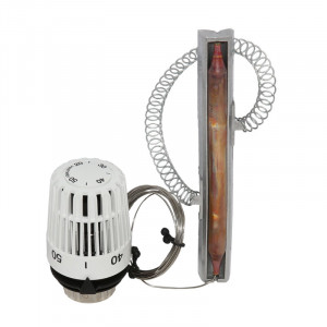 Термостатическая головка HEIMEIER K, диапазон 20-50°С, с накладным датчиком и капиллярной трубкой 2 м