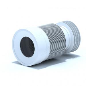 Удлинитель гибкий для унитаза выпуск 110 мм гофрированный с белой/черной манжетой