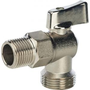 SVB-0059-001234 STOUT 1/2 на 3/4 Кран шаровой угловой для стиральных машин
