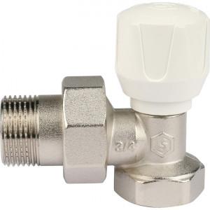 "SVR-2102-000020 STOUT Клапан ручной терморегулирующий, угловой 3/4"""