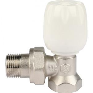 """SVRs-1152-000015 STOUT Клапан ручной терморегулирующий с неподъемным шпинделем, угловой 1/2"""""""