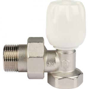 """SVRs-1152-000020 STOUT Клапан ручной терморегулирующий с неподъемным шпинделем, угловой 3/4"""""""