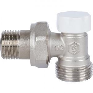 """SVL-1166-000015 STOUT Клапан запорно-балансировочный угловой, 1/2"""" х 3/4""""ЕК"""