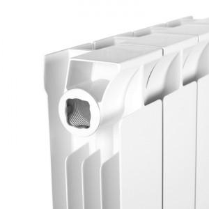 Радиатор биметаллический STOUT STYLE 350 8 секций (белый RAL 9010)