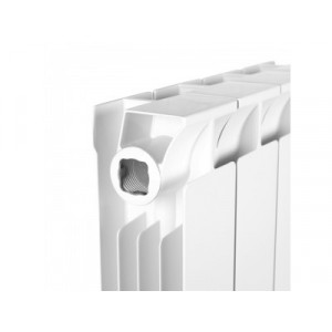 Радиатор биметаллический STOUT STYLE 500 10 секций (белый RAL 9010)