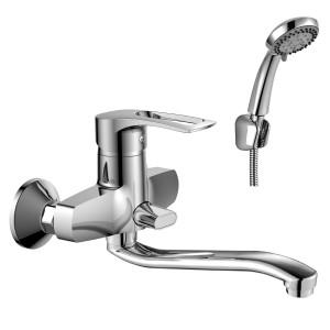 Смеситель Rossinka T40-34 для ванны с S-образным изливом