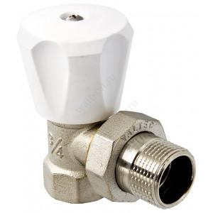 """VALTEC, Клапан для радиатора регулировочный угловой 1/2"""" компактный"""