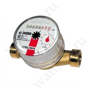 Счетчик горячей воды WFW20.D080 Ду = 15 мм, L = 80 мм без штуцеров