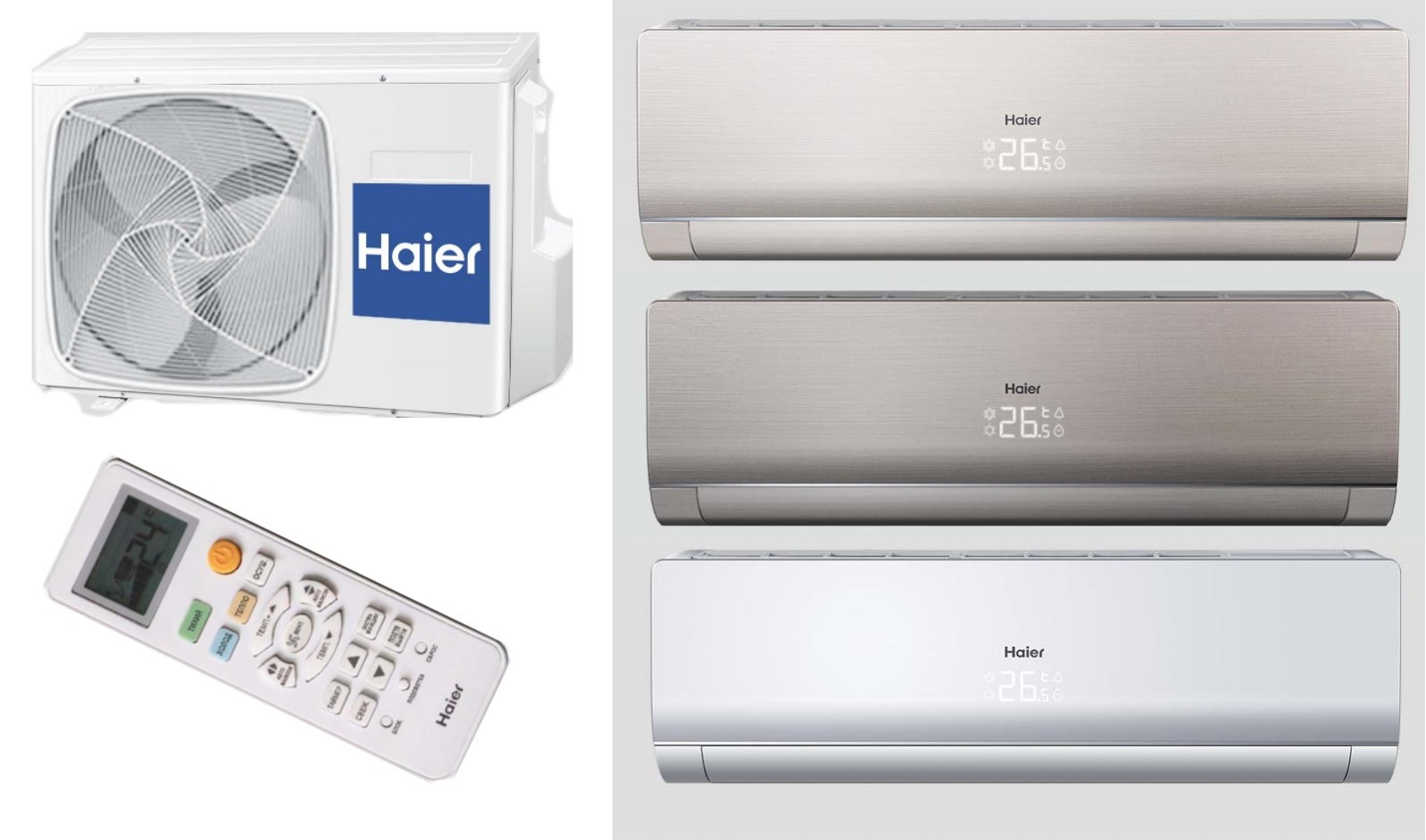 Сплит-система Haier Lightera DC Inverter 18 (AS18NS3ERA-W / 1U18FS2ERA(S))