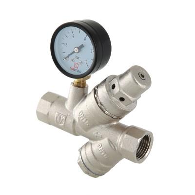 """VALTEC Подпиточный клапан с фильтром и манометром 1/2"""""""